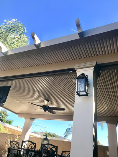 Custom Lighting Amp Fans Above Amp Beyond Patio Covers